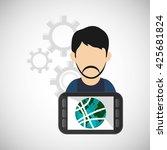 internet  design. communication ... | Shutterstock .eps vector #425681824
