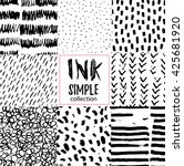 vector set of hand drawn... | Shutterstock .eps vector #425681920