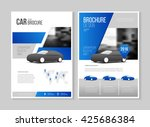car brochure. auto leaflet... | Shutterstock .eps vector #425686384