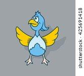 bird   vector illustration   Shutterstock .eps vector #425691418