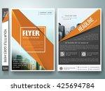 flyers design template vector.... | Shutterstock .eps vector #425694784