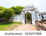 gate to phra narai ratchaniwet  ... | Shutterstock . vector #425697088
