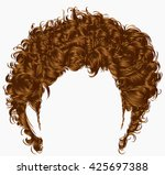 trendy man hairs  fringe .... | Shutterstock .eps vector #425697388