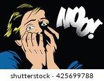 people in retro style pop art...   Shutterstock .eps vector #425699788