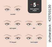 5 basic eyebrow shapes. various ... | Shutterstock .eps vector #425703130