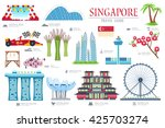 country singapore travel... | Shutterstock .eps vector #425703274