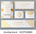 set of luxury ramadan gold... | Shutterstock .eps vector #425703880