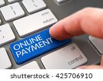 online payment concept   white... | Shutterstock . vector #425706910