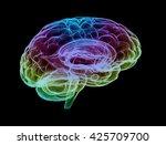 Human Brain Multi Color. 3d...