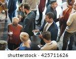 diversity friends meeting... | Shutterstock . vector #425711626