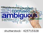 Small photo of Ambiguous concept word cloud background