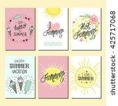 vector bright summer cards.... | Shutterstock .eps vector #425717068