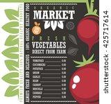 farm fresh vegetables market. ... | Shutterstock .eps vector #425717614
