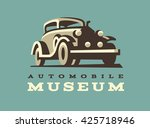 retro car logo illustration ... | Shutterstock .eps vector #425718946