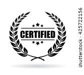 certified product emblem vector ... | Shutterstock .eps vector #425722156