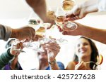 people cheers celebration toast ... | Shutterstock . vector #425727628