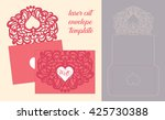 wedding invitation or greeting... | Shutterstock .eps vector #425730388