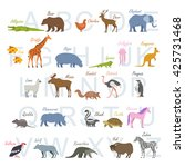 animal alphabet letters | Shutterstock .eps vector #425731468