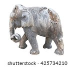 ruined carving elephant... | Shutterstock . vector #425734210