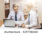 business  technology and office ... | Shutterstock . vector #425738260