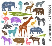 animal alphabet poster for... | Shutterstock .eps vector #425750008