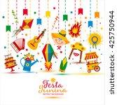 festa junina village festival... | Shutterstock .eps vector #425750944