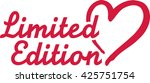 limited edition with heart | Shutterstock .eps vector #425751754