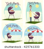 grill party | Shutterstock .eps vector #425761333