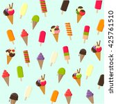 vector ice cream | Shutterstock .eps vector #425761510