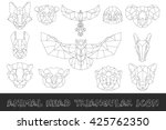 front view of animal head... | Shutterstock .eps vector #425762350