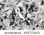 Doodle Pattern  Hand Drawn Image