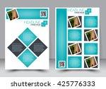 abstract flyer design... | Shutterstock .eps vector #425776333