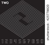 isometric number set   vector... | Shutterstock .eps vector #425778820