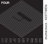 isometric number set   vector... | Shutterstock .eps vector #425778856