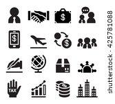 international business icon | Shutterstock .eps vector #425781088
