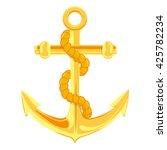 Gold Anchor Vector Illustratio...