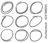 doodle circles for marking text | Shutterstock .eps vector #425788054
