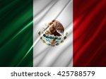 mexico flag of silk | Shutterstock . vector #425788579