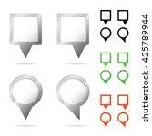 pointer pin set illustration in ... | Shutterstock .eps vector #425789944
