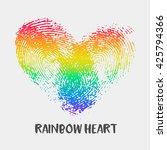 conceptual logo with... | Shutterstock .eps vector #425794366