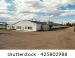 Big Industrial White Barn At...