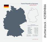 federal republic of germany... | Shutterstock .eps vector #425804866