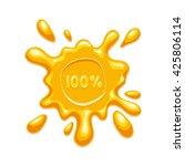 honey splash blot label on...   Shutterstock .eps vector #425806114