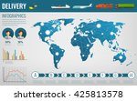 world transportation and... | Shutterstock .eps vector #425813578
