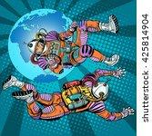 weightlessness astronauts in... | Shutterstock . vector #425814904