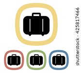 black icon of suitcase | Shutterstock .eps vector #425817466