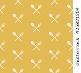 simple classic pattern with... | Shutterstock .eps vector #425821204