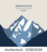 mountain landscape for web site ... | Shutterstock .eps vector #425823430