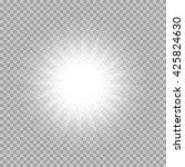 vector set of glowing light... | Shutterstock .eps vector #425824630