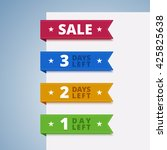 paper color tags. 1  2  3 days... | Shutterstock .eps vector #425825638